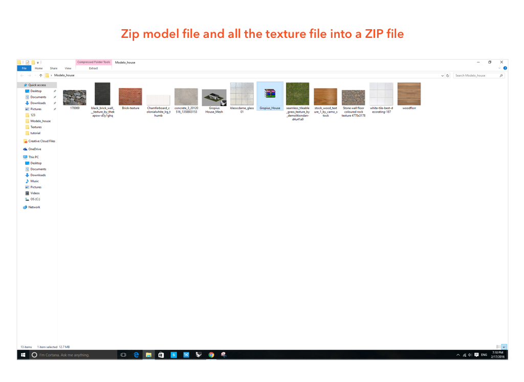 Upload A Rhino File with Textures – Modelo